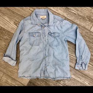 Nordstrom Girls Denim Shirt